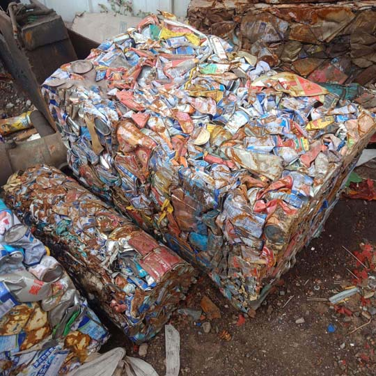 Cans-baling-and-recycling