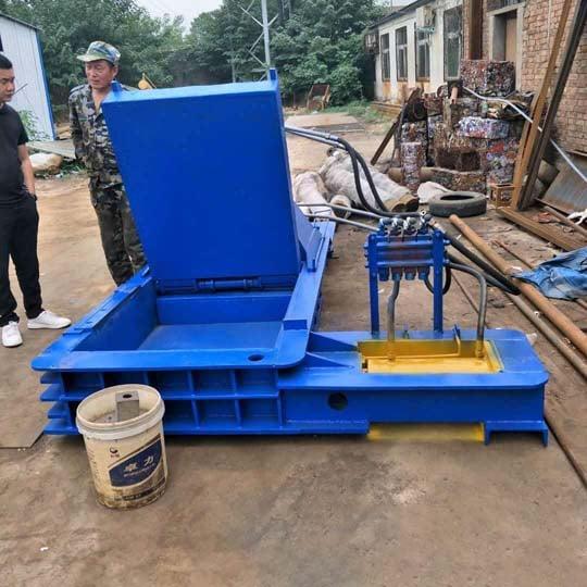 Indonesia customer using of the metal baler