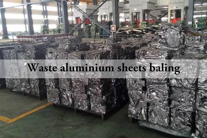 Waste aluminium sheets baling