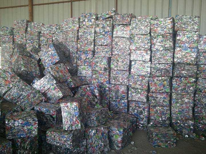 cans recycling with the aluminum can baler