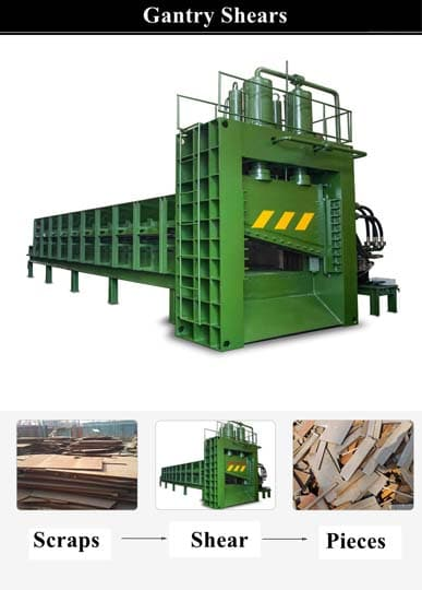 commercial metal scraps cutting equipment