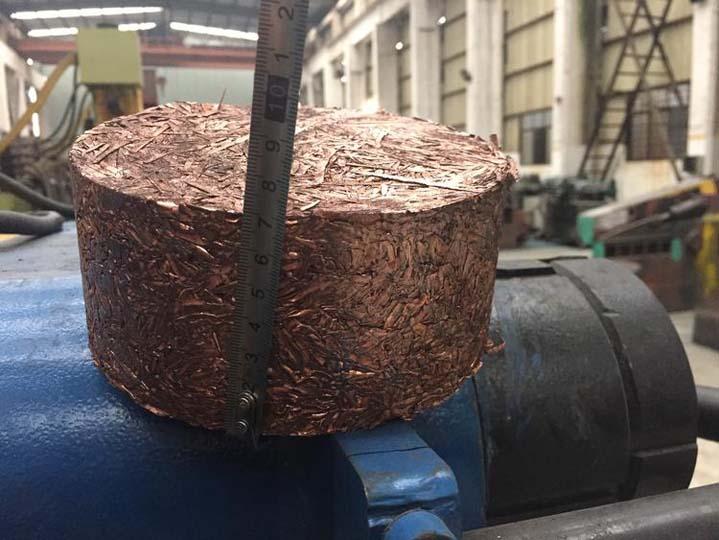 copper chisp briquettes made by metal briquetting machine