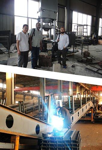 customer visiting of metal baling machine