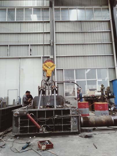 scrap metal baler factory