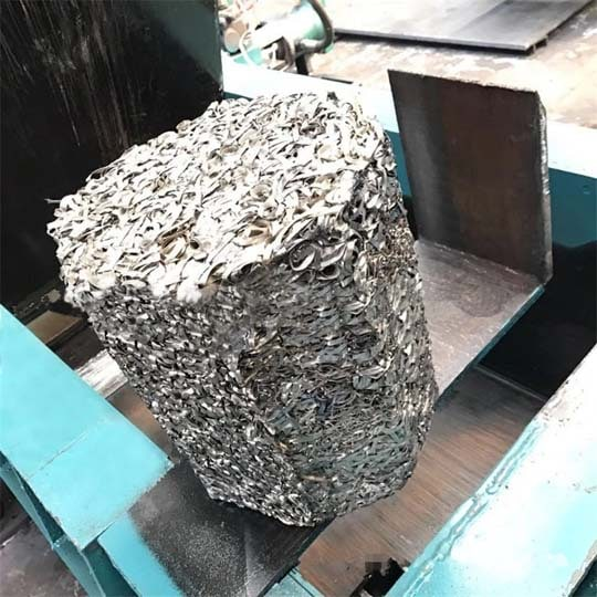 waste metal baling with eight-prism shape
