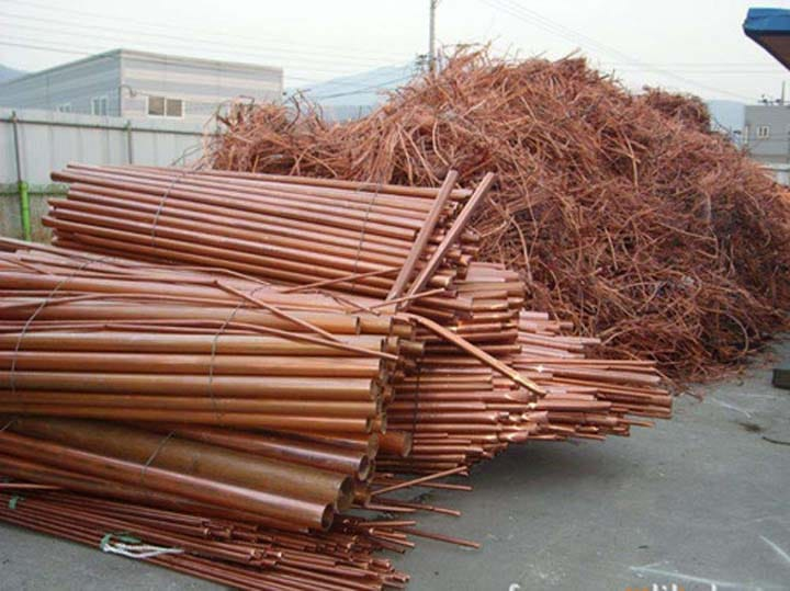 bulks of waste copper sheets and wires