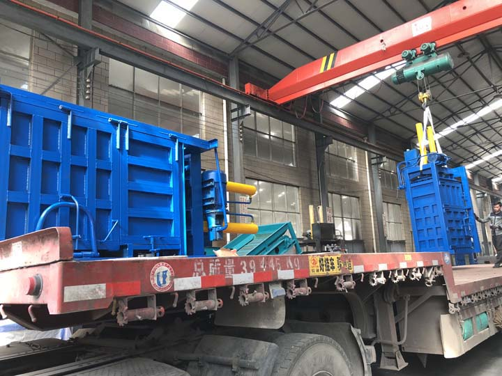 vertical baler machines are loading