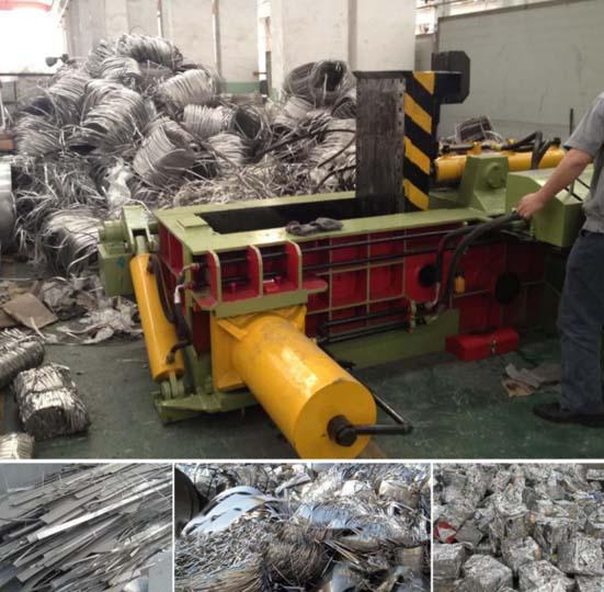 applications of hydraulic metal baler machine